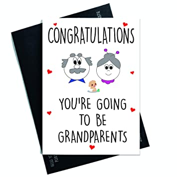 congratulations card pregnancy surprise youre going to be grandparents card for nana grandad new - Pregnancy Congratulations Card