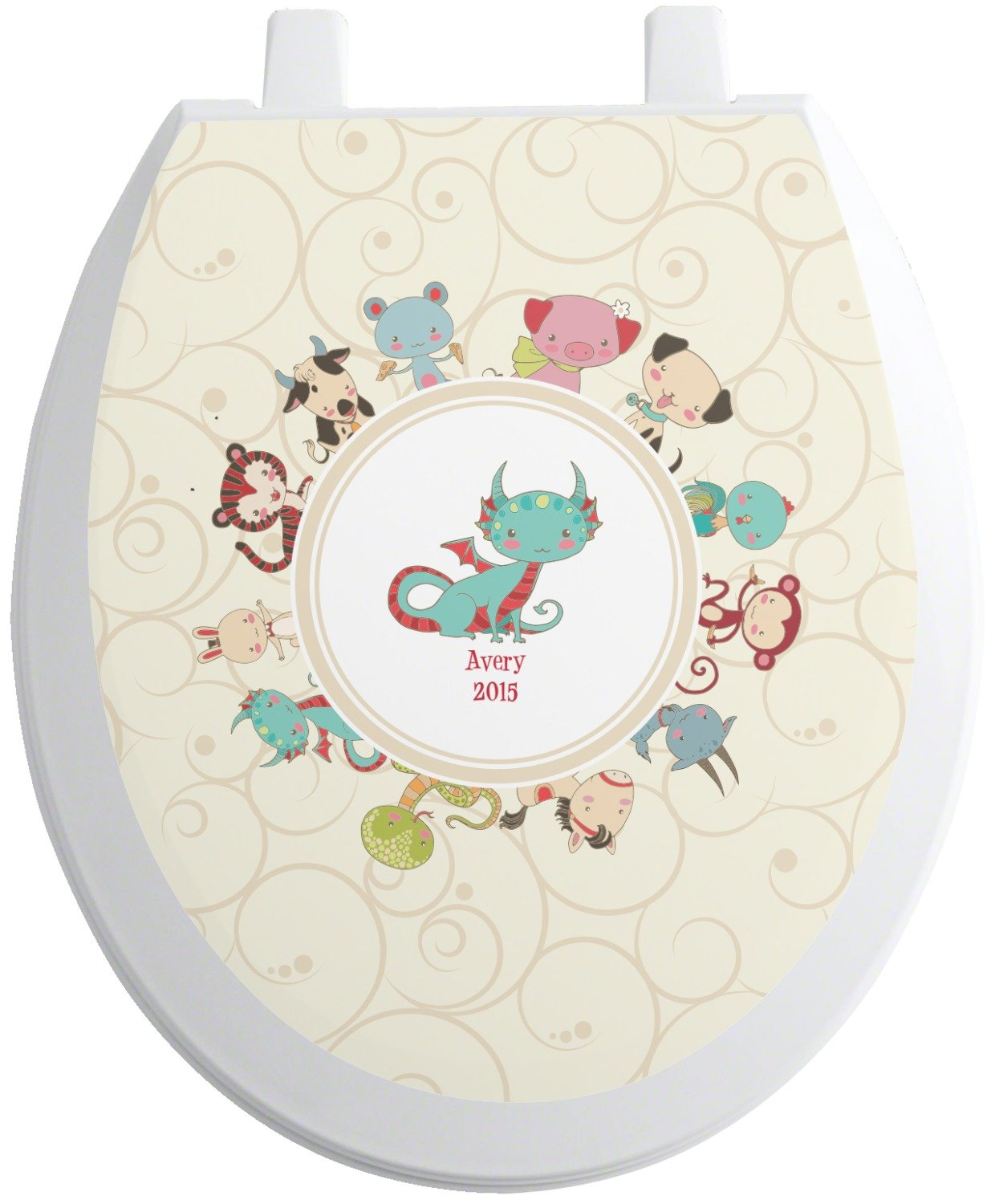 Amazon.com: RNK Shops Chinese Zodiac Toilet Seat Decal - Elongated ...