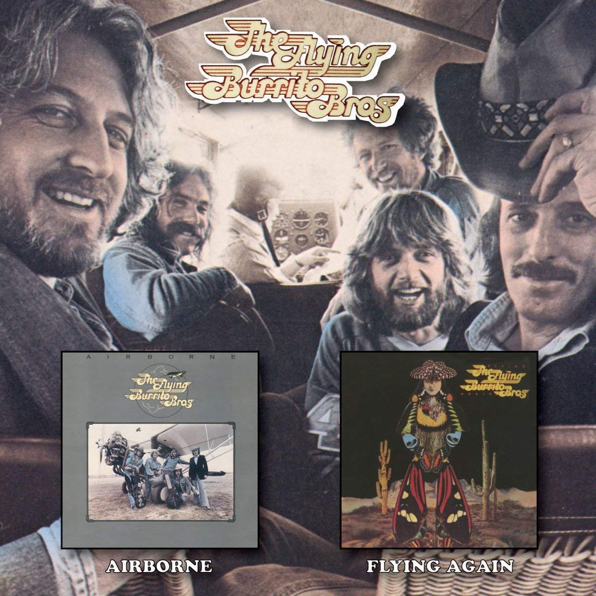CD : The Flying Burrito Brothers - Airborne /  Flying Again (United Kingdom - Import, 2PC)