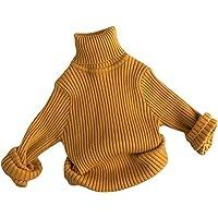 BemeUSWT 3-7 Años Bebé Niños y Niñas Suéter De Punto Blusa Cálido Jersey Manga Larga Cuello Alto Color Sólido Prendas De…