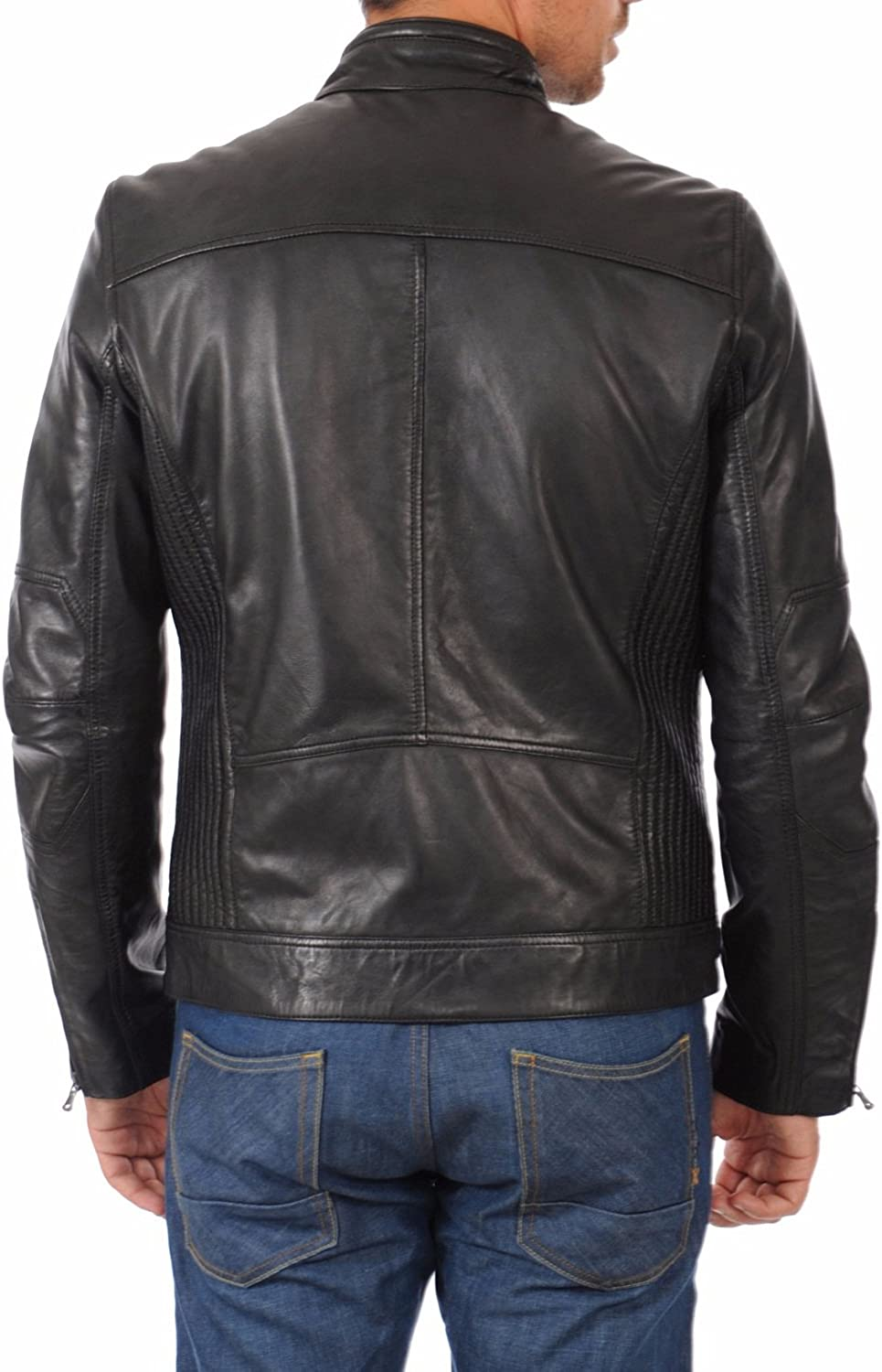 Benjer Skins Mens Stylish Lambskin Genuine Leather Jacket 429