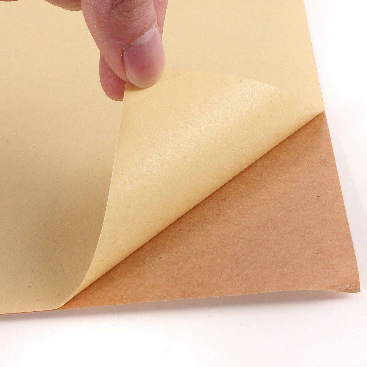 20fogli di carta da pacchi autoadesiva opaca, formato A4, per stampare etichette con indirizzi EVG