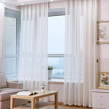 Tremendous Amazon Com Sjqka Curtain Bay Window Modern Minimalist Creativecarmelina Interior Chair Design Creativecarmelinacom