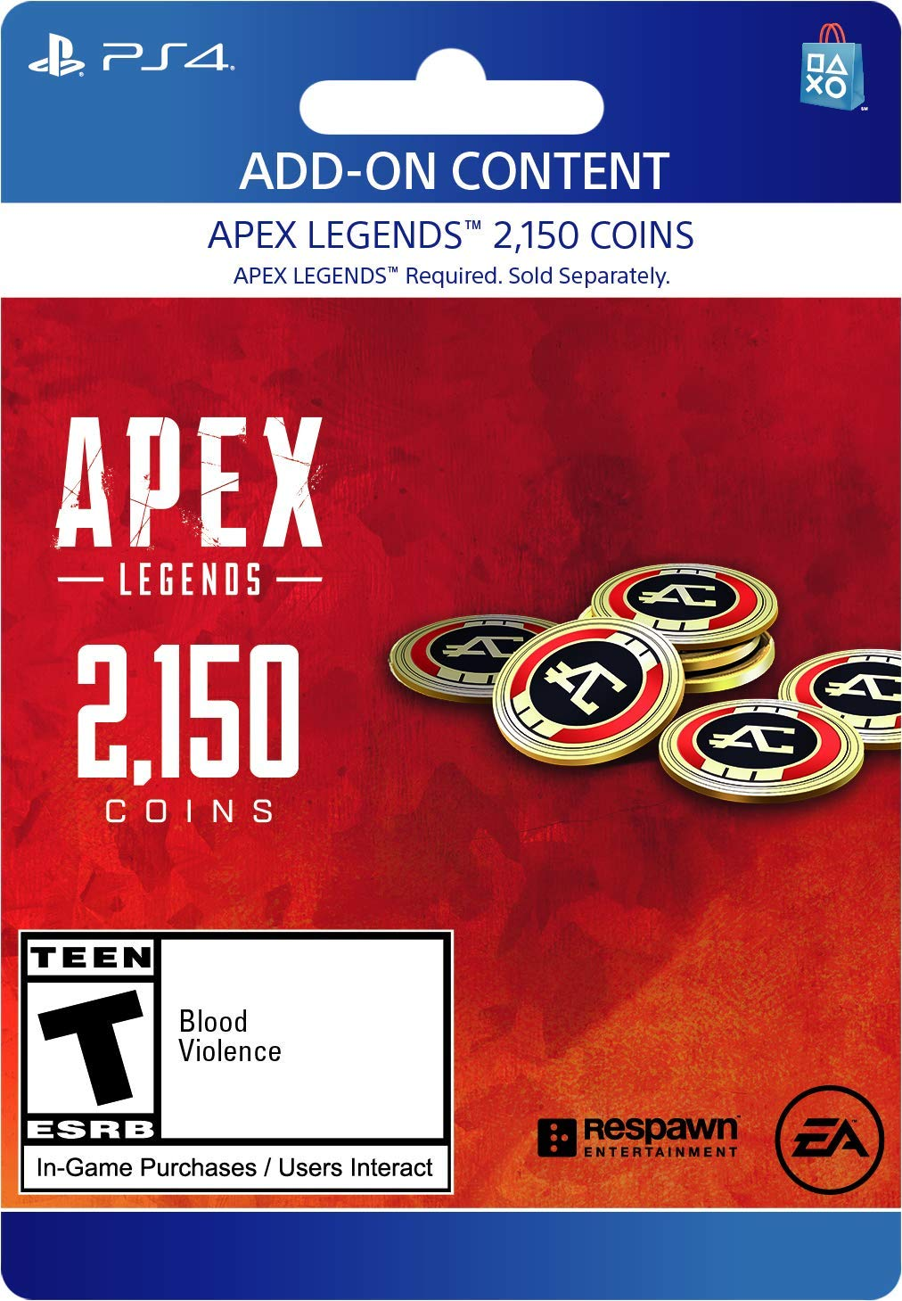 Apex Legends - 2,150 Coins Virtual Currency - PS4 [Digital Code] by Electronic Arts
