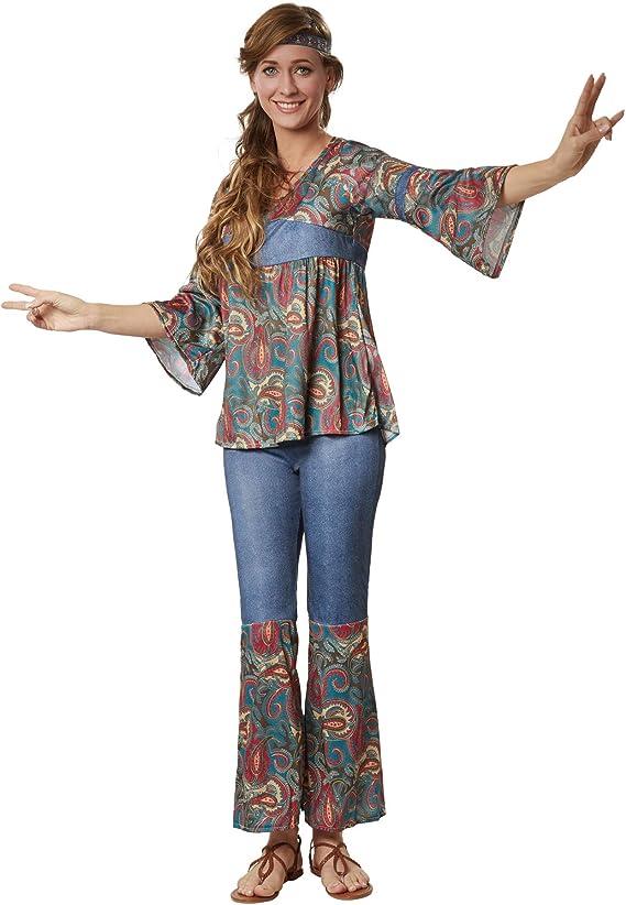 dressforfun 900522 - Disfraz de Mujer Hippie Harmony, Atuendo en ...
