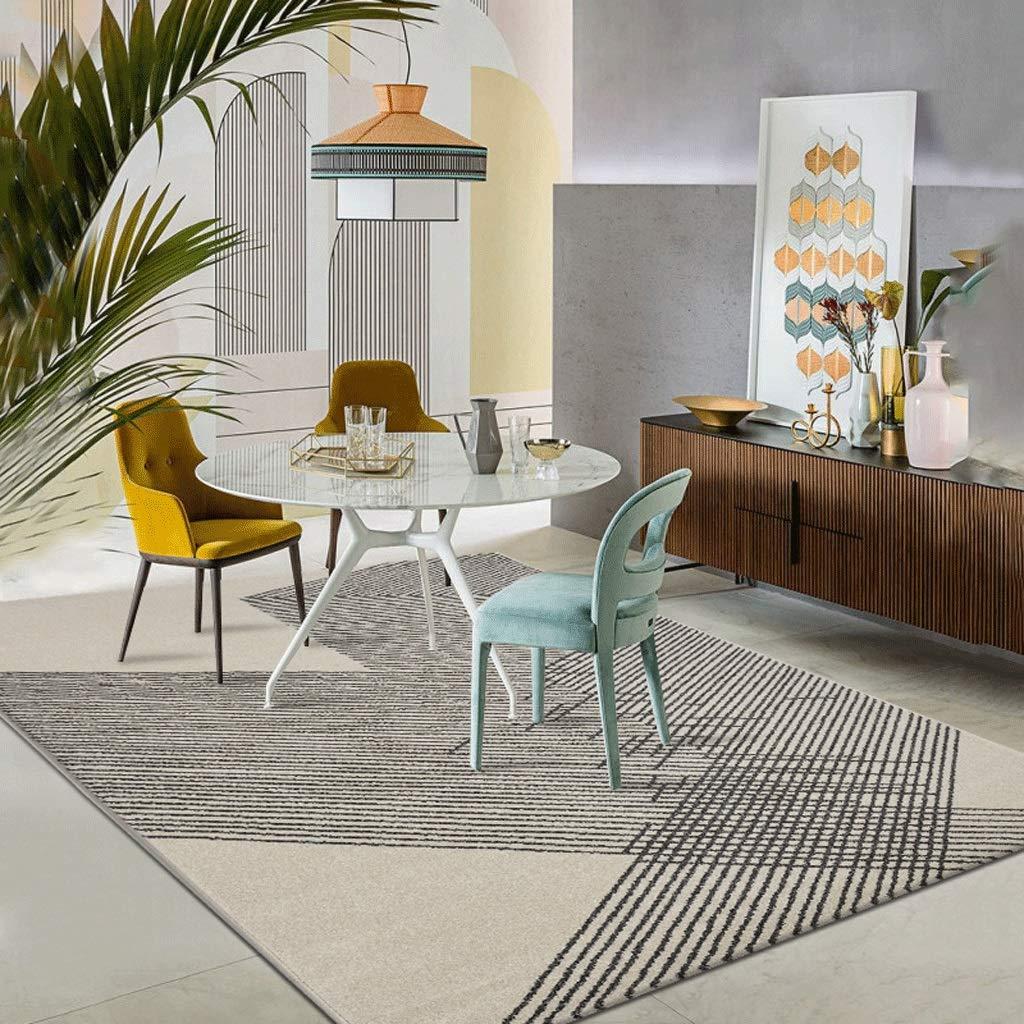 ヨーロッパスタイルのカーペットリビングルームベッドルームフルベッドサイドブランケットコーヒーテーブルシンプルな近代的な北欧スタイルの長方形カーペット (色 : Gray, サイズ さいず : 160cm×230cm) 160cm×230cm Gray B07KTZTTCT