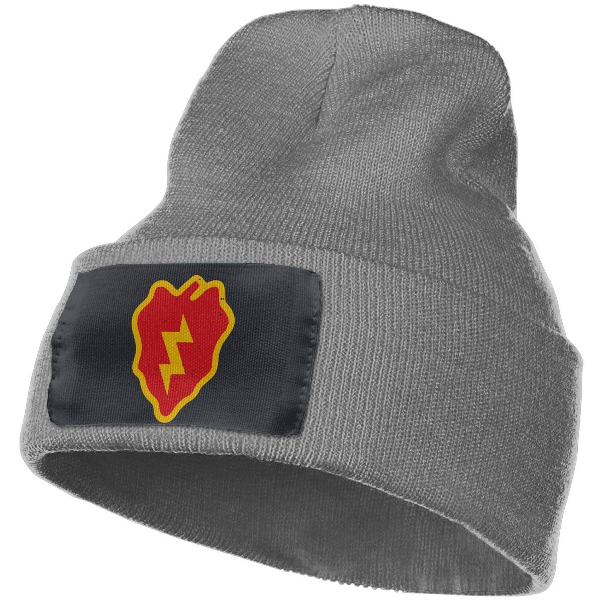 Beanie US Army Retro 25th Infantry Division Knitted Hat Winter Skullcap Men Women