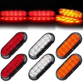 cciyu 6 Pack bombilla LED ovalada soporte de goma sellada aclaramiento marcador de luz 10 LED