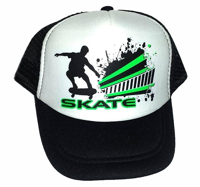 Toddler Kid s Skate Black Skater Skatebord Mesh Trucker Hat Cap 2a26b3ca052