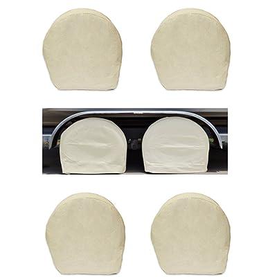 APSG Heavy Duty Wheel Cover Set of 4 Sun UV Protection Long Life H.D. Canvas Tire Car Boat Trailer: Automotive
