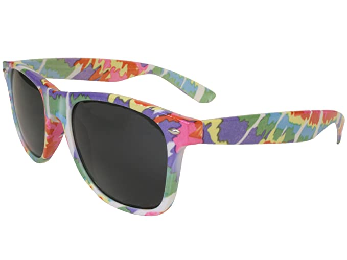 Amazon.com: G & g Tie Dye anteojos de sol, Multi color, m ...