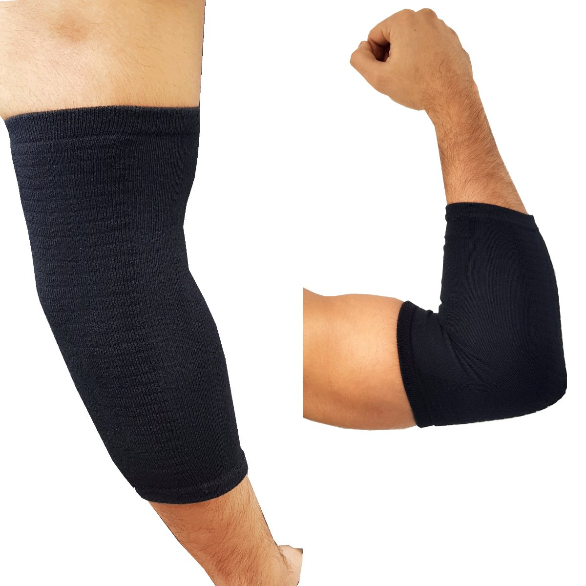 689f1d3931 Medipaq® Therapeutic GEL Sleeve Elbow Support - Warms & Soothes (1x Support  Black): Amazon.co.uk: Health & Personal Care