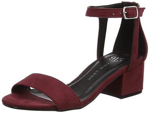 New LookPillow - Zapatos de Tacón Chica, Color Rojo, Talla 37