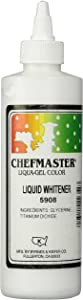 Chefmaster Liquid Whitener Food Color, 16-Ounce, White