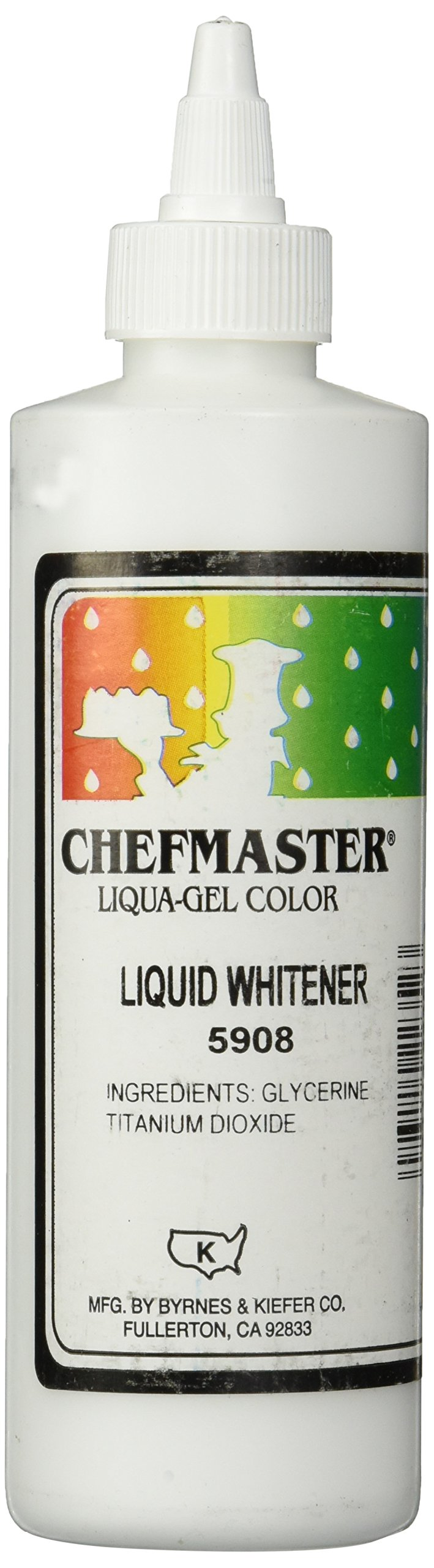 Chefmaster Liquid Whitener Food Color, 16-Ounce, White by Chefmaster