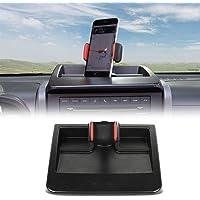 CheroCar JK Cellphone Dash Multi-Mount Phone Holder Stoage Tray System Kit fits for 2007-2011 Jeep Wrangler JK JKU…