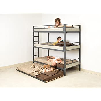 Amazon Com Triple Bunk Bed With Trundle Matresses Not