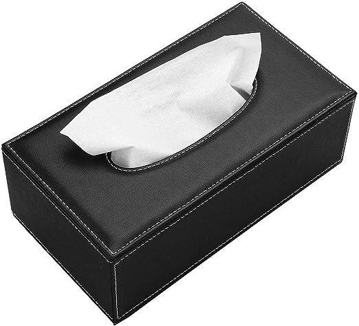 Winice - Caja de pañuelos de Piel Rectangular para pañuelos, Color ...