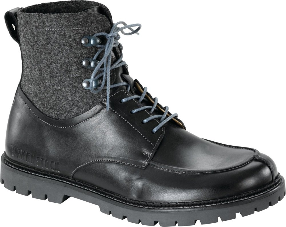 Birkenstock Men's Timmins High Boot B01NCUWTNA 45 M EU|Black Leather