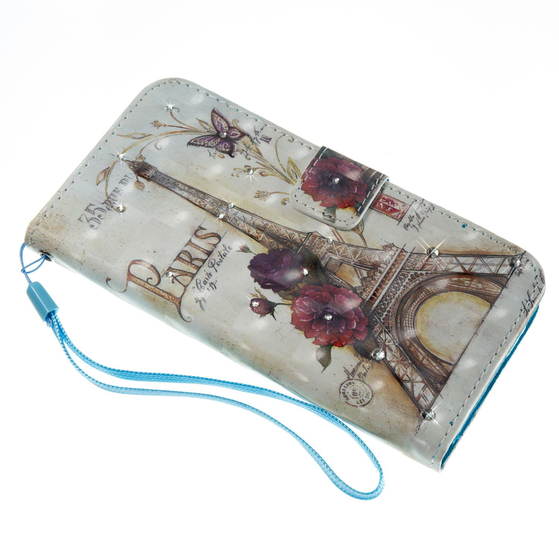 Cover Sony Xperia XA1,ikasus Glitter Diamanti Strass fiori farfalla dipinto arte variopinta 3D Flip Cover Portafoglio PU Pelle Protective Wallet Custodia Cover per Sony Xperia XA1,Gufo dellalbero