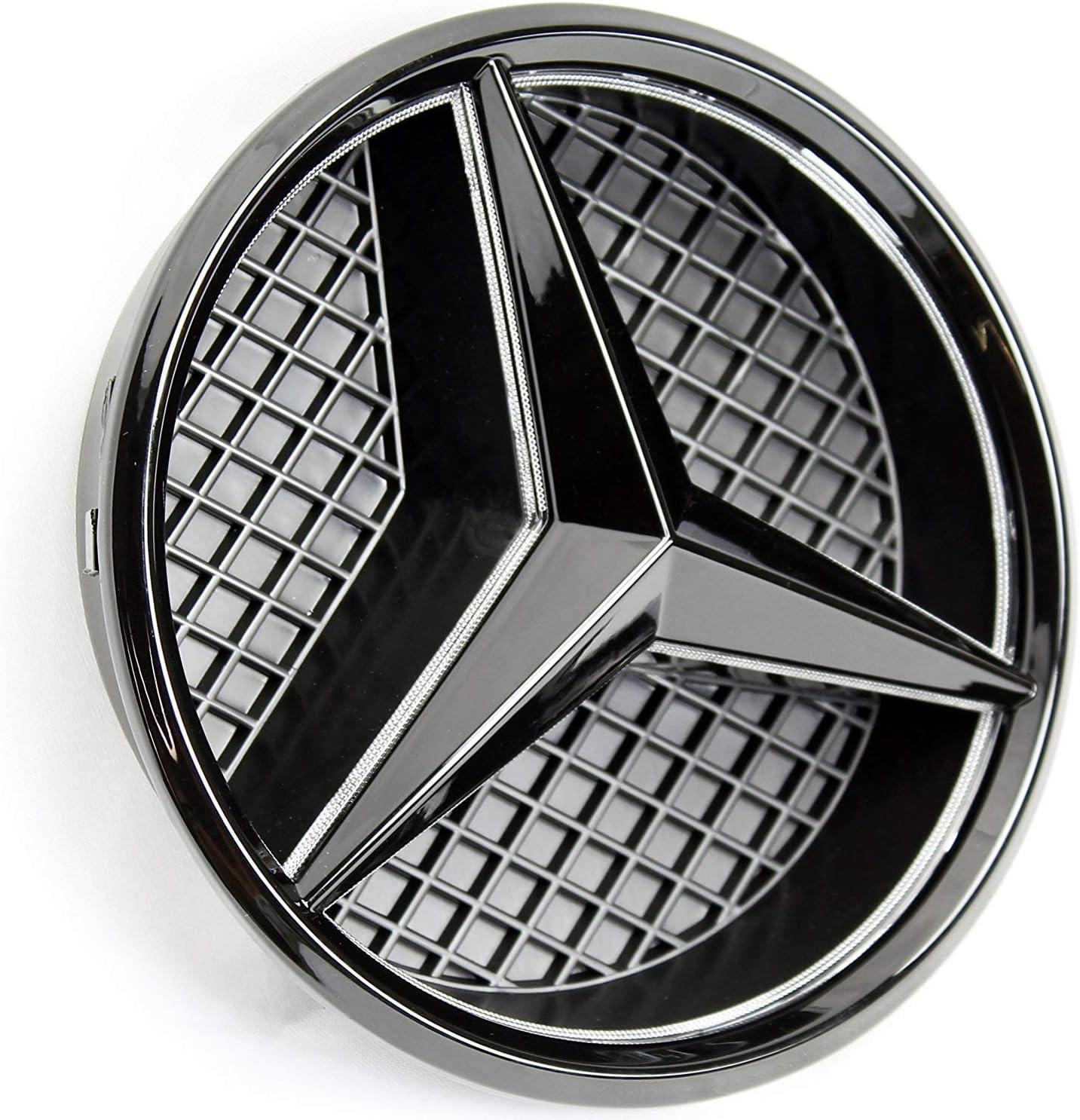 IHEX Auto Xenon White Illuminated LED Car Logo Grid Badge for Mercedes Benz A//B//C//CLS//E//GLK//GL//R Series Front Grille LED Emblem Light