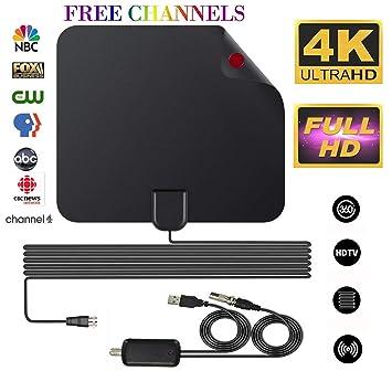 Antena de TV, TELEV Antena HDTV 60 Millas de Alcance Antena TV Digital para Interiores