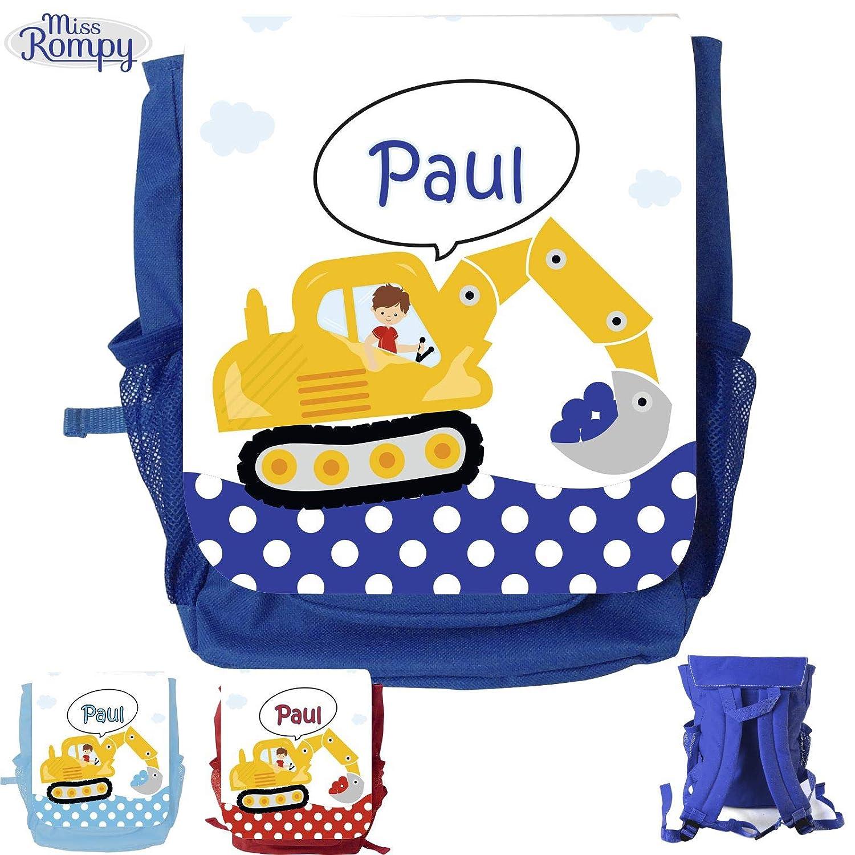 MissRompy Bagger (838) Rucksack mit Name Kinderrucksack Kita Kindergartenrucksack Kindertasche