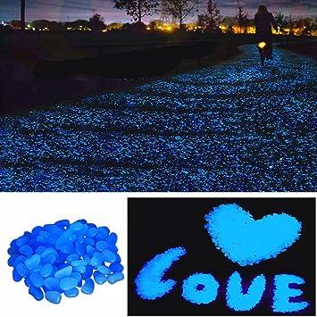 200 Pcs Glow In The Dark Garden Pebbles Stone For Walkways Yard Aquarium  Gravel Fish Tank