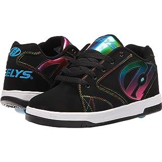 Heelys boys Propel 2.0 Sneaker, Black Black Red, Black (Black / Rainbow Foil), 4 M US