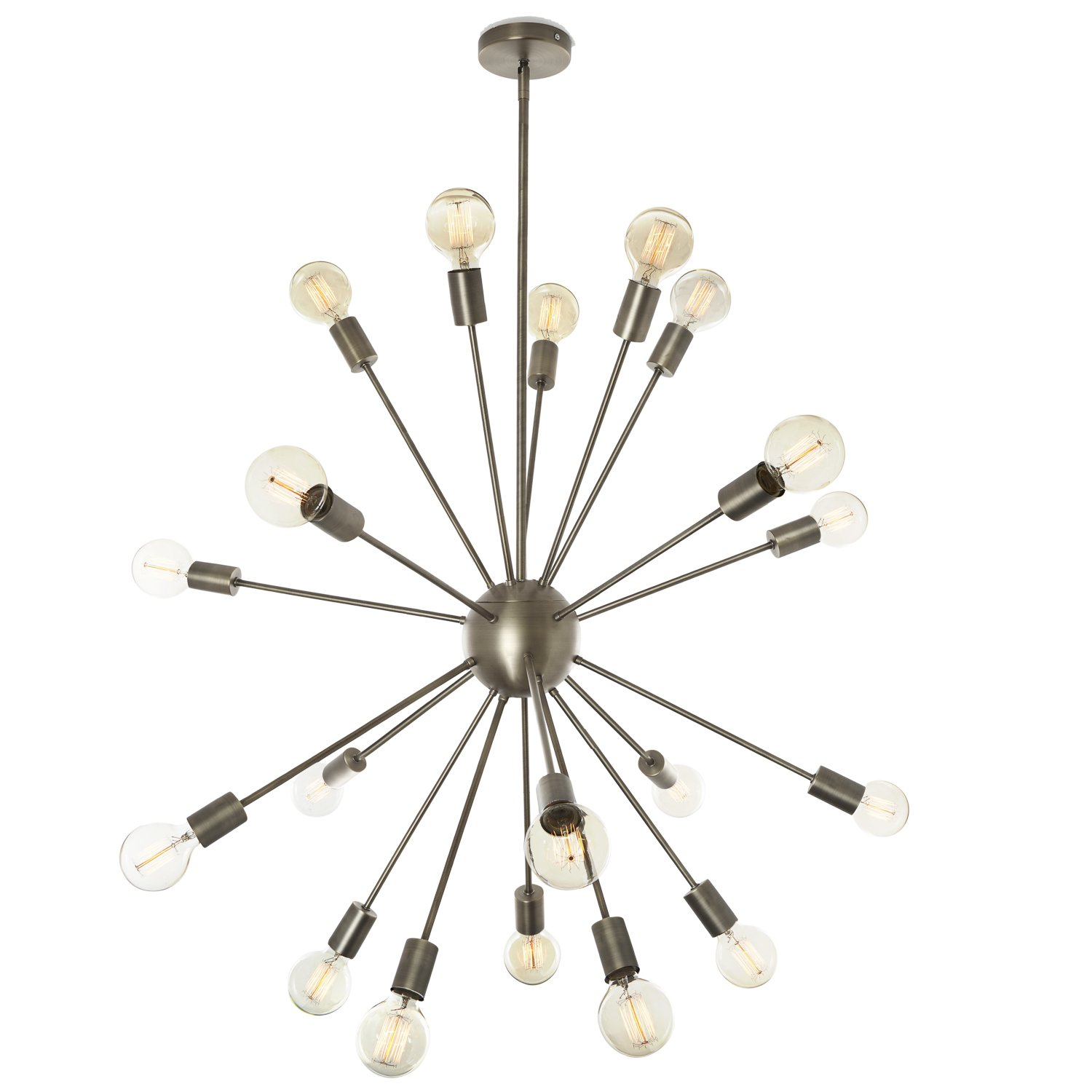 20 Light Sputnik Chandelier Modern Satellite Style Pewter
