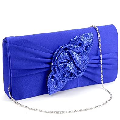 Gut Damen Clutch Satin Handtasche Brauttasche Elegante Abendtasche Schwarz Taschen
