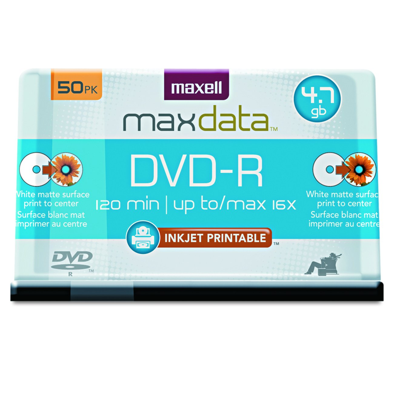 Maxell 638022 Dvd-R4.7Gb Printable White Matte
