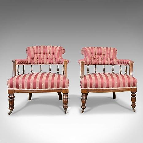 London Fine Antiques - Juego de 2 sillas de salón de Estilo ...
