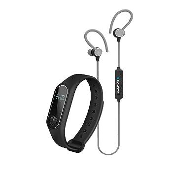 BLAUPUNKT BLP1510 Bracelet Connecté avec Cardio Fréquencmétre et Ecouteurs Bluetooth