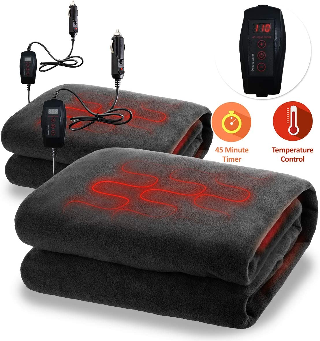Zone Tech Fireproof Car Heated Travel Blanket