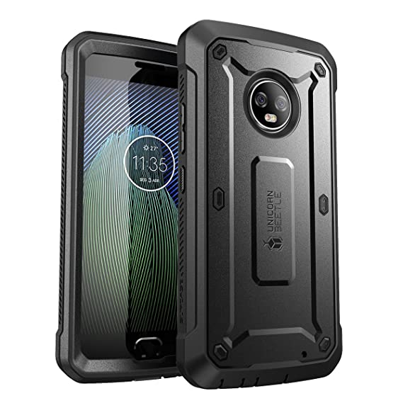 check out a95b3 1d929 SUPCASE [UB PRO Series] Case for Moto G6 Plus, Full-Body Rugged Holster  Case with Built-in Screen Protector for Moto G Plus 6th Generation, Not Fit  ...