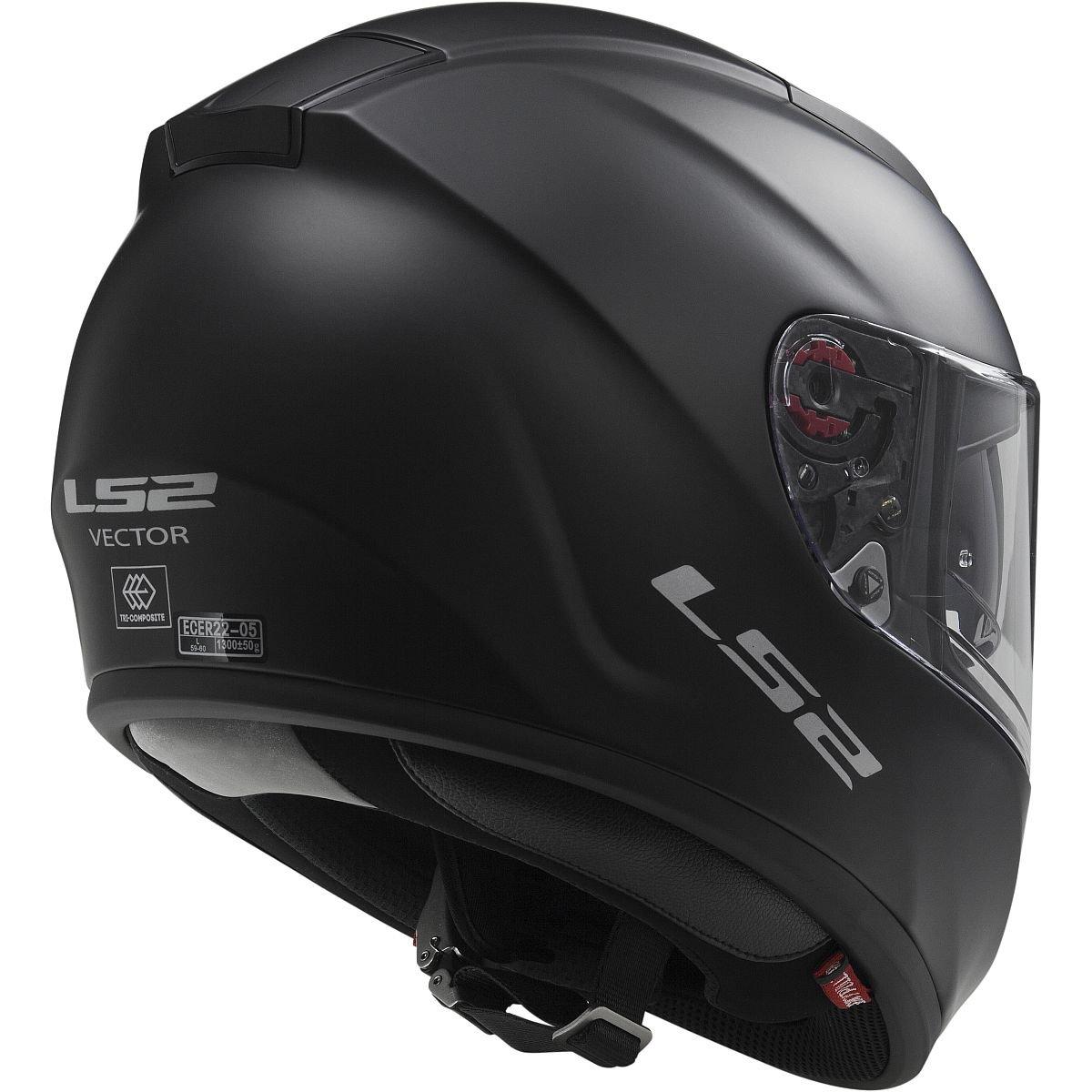 30d45099 Amazon.com: LS2 Helmets Vector Solid Full Face Motorcycle Helmet with  Sunshield (Matte Black, Small): Automotive