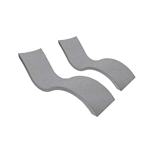 Ledge Lounger in-Pool Chaise Lounge for 0-9 in. of Water Set of 2, Granite Gray