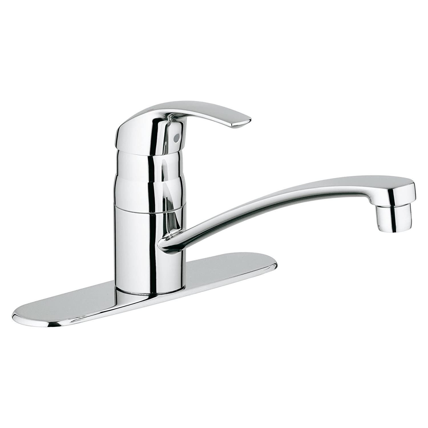 Eurosmart Centerset Single-Handle Kitchen Faucet With Swivel Spout
