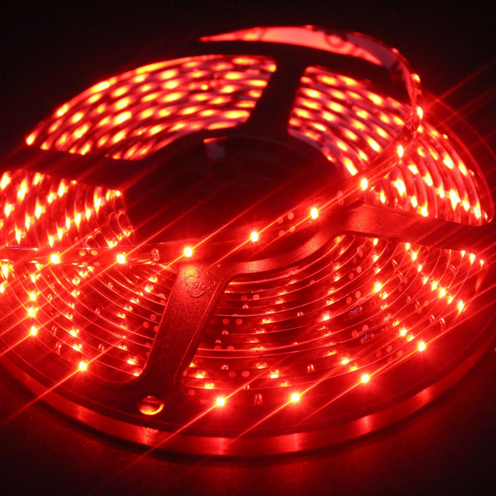 EverBright Super Brightness Pink 5M(16.4Ft) 3528 SMD 60LED/M 300 LED Waterproof Flexible Light Strip PCB Black For Car truck Neon Undercar Lighting Kits Mall booth House decoration Stage music Coloreful lights