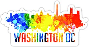 "Washington DC City Skyline - Laptop Stickers - 4"" Vinyl Decal - Laptop, Phone, Tablet Vinyl Decal Sticker"