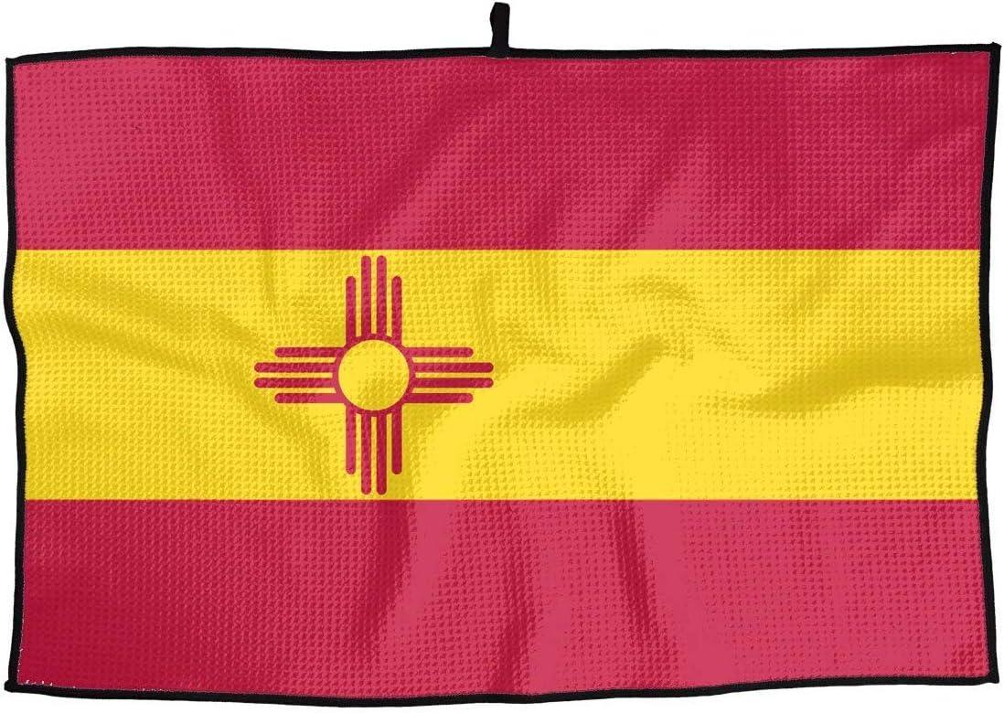 Elegante toalla de golf deportiva de microfibra Bandera de Nuevo México en el estilo de España. Toalla de secado rápido ideal: para viajes, golf, entrenamiento, natación, gimnasio, yoga, camping: Amazon.es: Deportes y