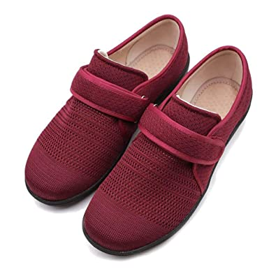 a6138eddbcff Rong Women Diabetic Slippers Arthritis Edema Magical Buckle Shoes Fit for  Swollen Feet Elderly People Outdoor Indoor Shoes Footwear  Amazon.co.uk   Shoes   ...