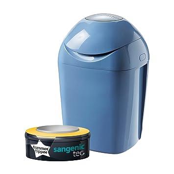 Tommee Tippee Sangenic Tec Nappy Disposal Tub, Raindrop Blue ...
