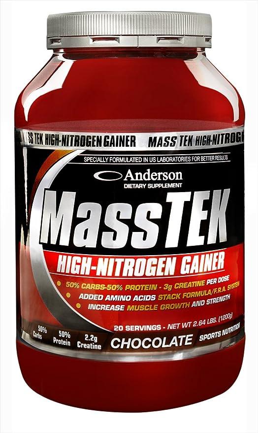 Anderson Mass Tek Gainer con 50% de Proteínas y 50% de Carbohidratos - 1200 gr