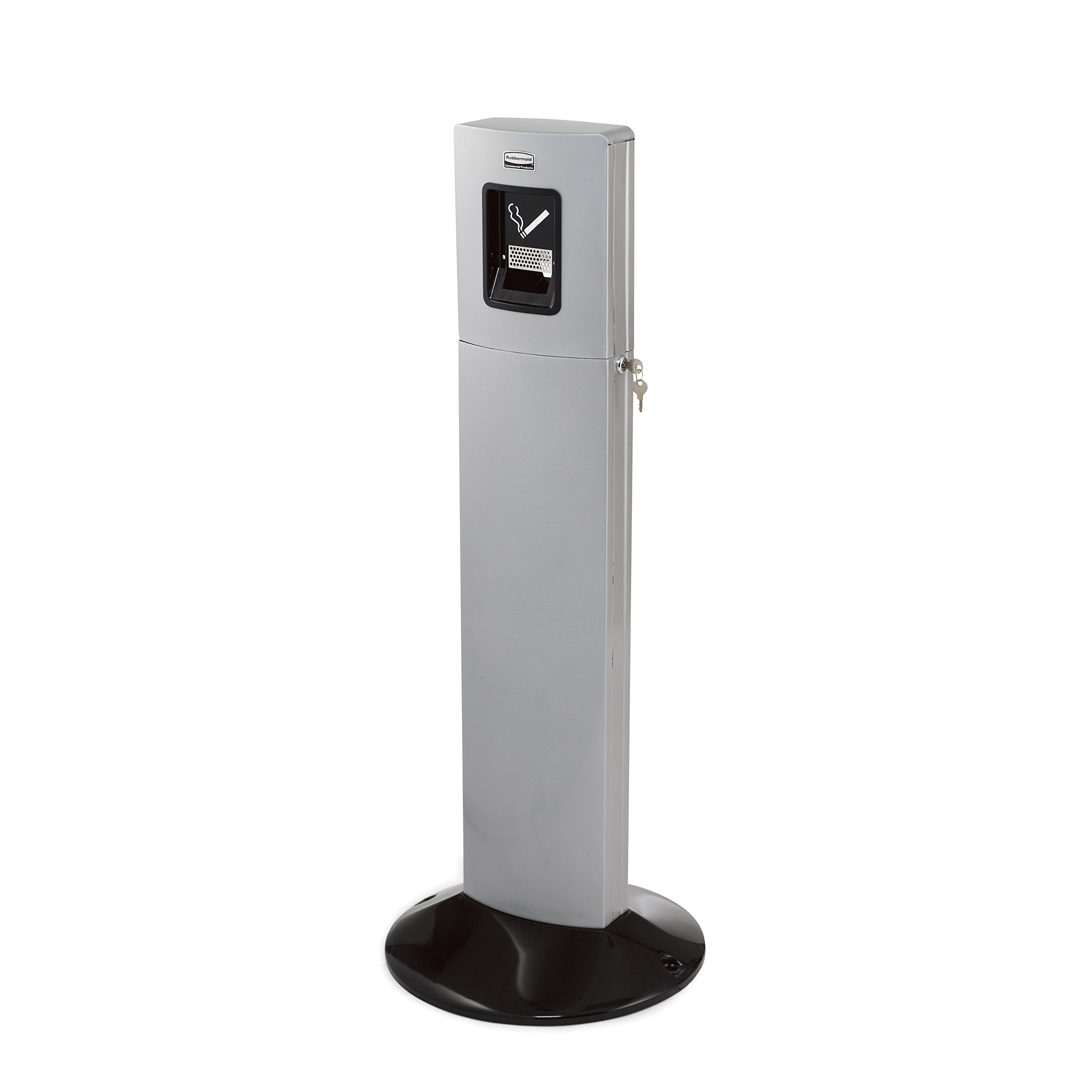 Rubbermaid Commercial Metropolitan Smokers Station, 1-3/5 Gallon, Silver Metallic, FGR93400SM by Rubbermaid Commercial Products