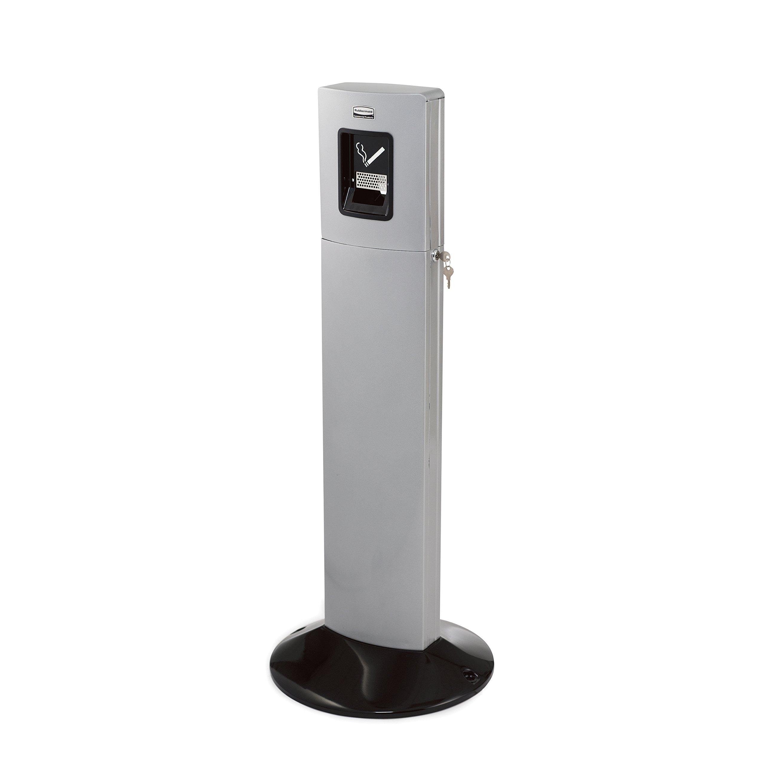 Rubbermaid Commercial Metropolitan Smokers Station, 1-3/5 Gallon, Silver Metallic, FGR93400SM
