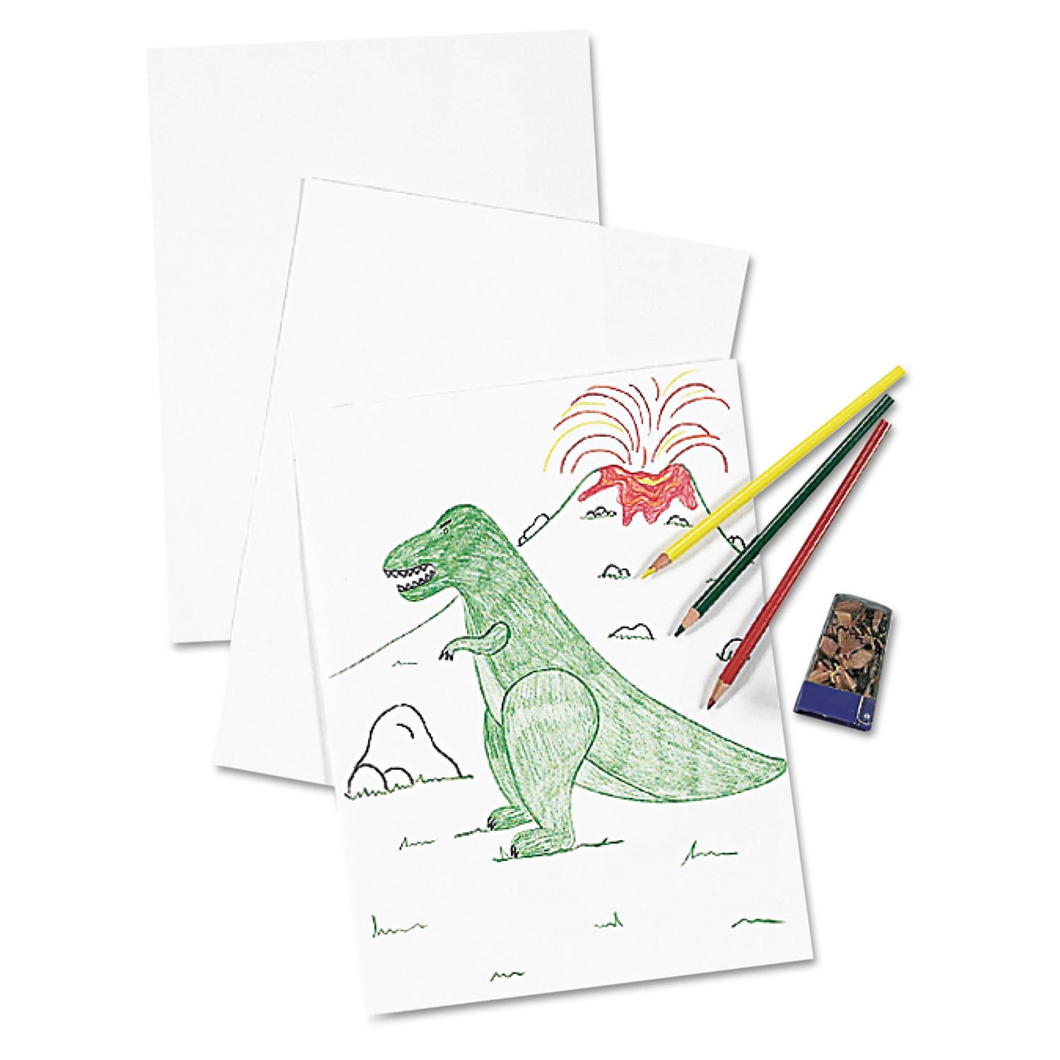 Pacon White Drawing Paper, Heavyweight, 24 x 36 Inches, 250 Sheets (4726)