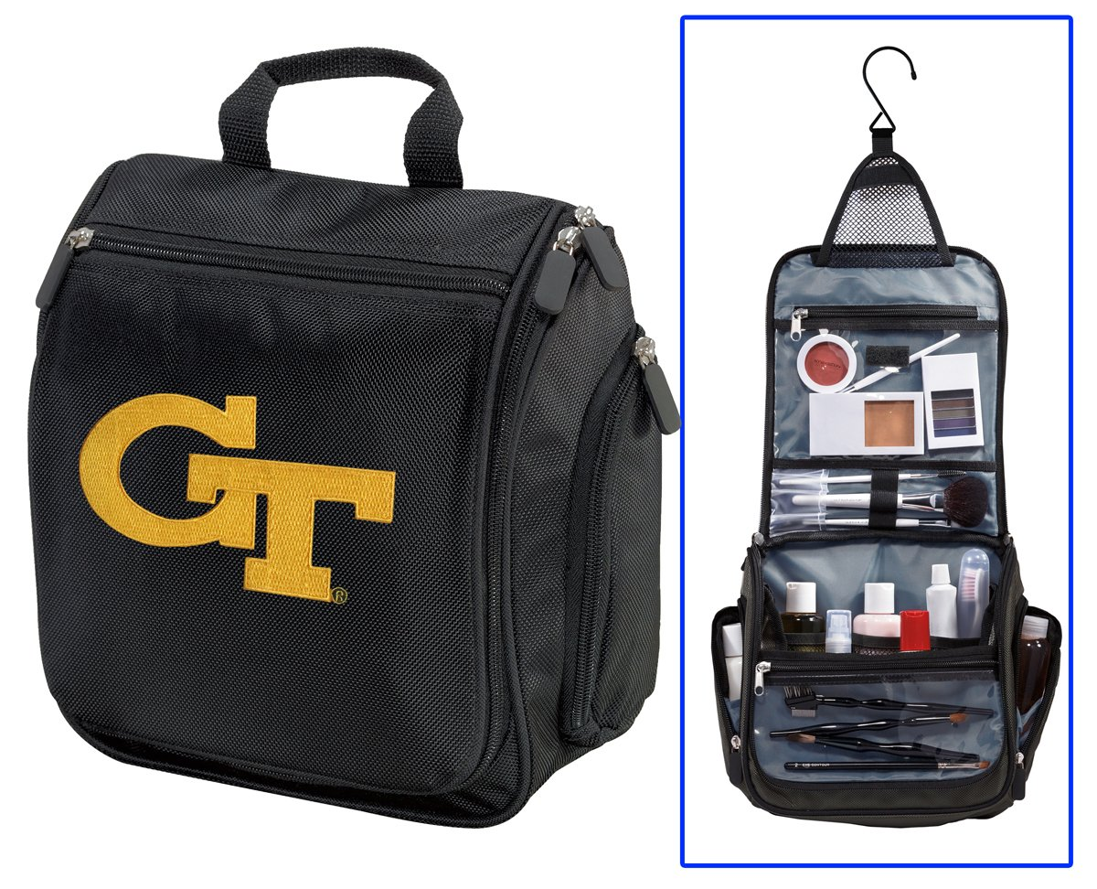 Georgia Tech Toiletry Bags Or Hanging GT Yellow Jackets Shaving Kits by Broad Bay