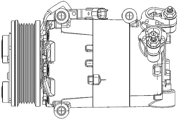 BEHR HELLA SERVICE 8FK 351 334-431 *** PREMIUM LINE *** Compresor, aire acondicionado: Amazon.es: Coche y moto